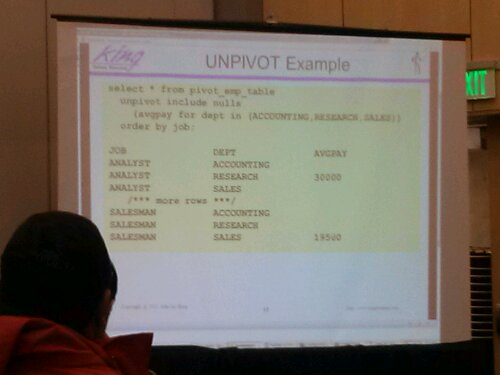 Example of UNPIVOT
