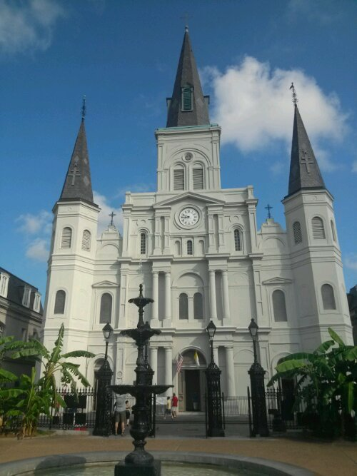 The beautiful St Louis Cathedral near Jackson Square  in New Orleans