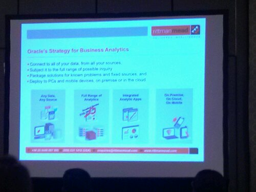 In Mark Rittman's session he talked a bit abut Oracle's strategy around business analytics.