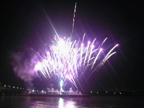 We had a spectacular fireworks display (shot off a barge) at the annual KScope Big Event