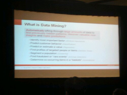 Definition for Data Mining. An extension for Data Mining is available for SQL Developer.