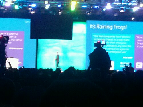 Brad Anderson Corporate VP from Microsoft on stage at Oracle OpenWorld 2013