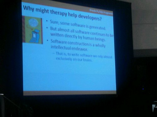 PL/SQL Evangelist Steven Feuerstein discusses Coding Therapy for Software Developers