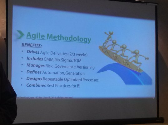 Part of DV 2.0 is the methodology has officially adopted an agile approach