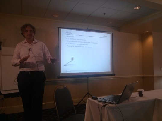 Roelant Vos discusses  generating Data Vault ETL from meta data
