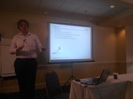 Roelant Vos discusses  generating Data Vault ETL from meta data