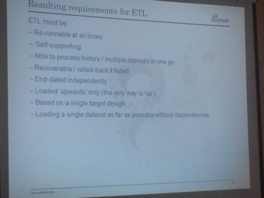Characteristics of ETL for Data Vault