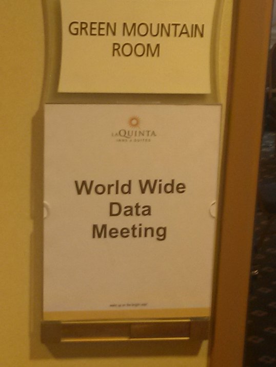 The sign outside the meeting room