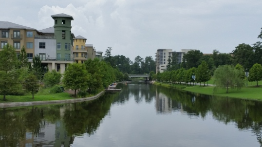 Apartments over looking the waterway that flows to Lake Woodlands. A great natural setting. Not the usual suburban wasteland.