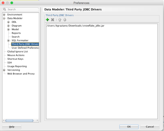 Tech Tip: Connect to Snowflake db using #SQLDevModeler | The