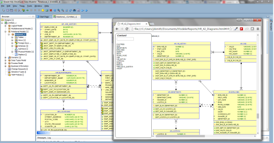 SQL Developer Data Modeler EA2 adds diagrams to HTML reports