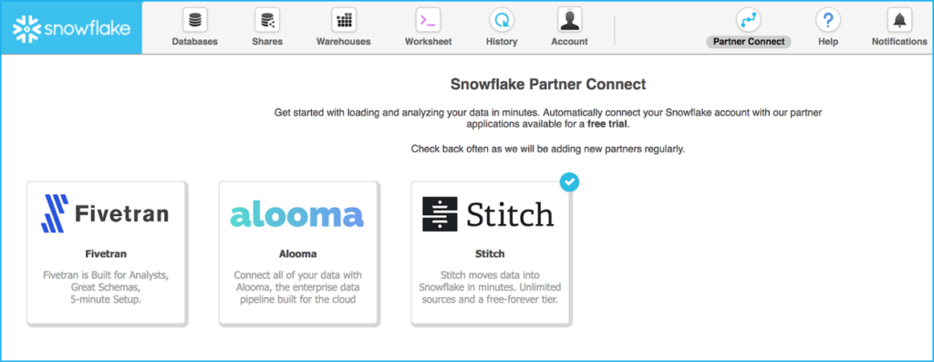 Get Started Faster with Snowflake Partner Connect | The Data Warrior